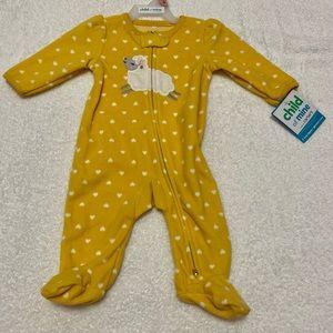 BNWT fleece pyjamas. Size 0-3 mos. Child of mine